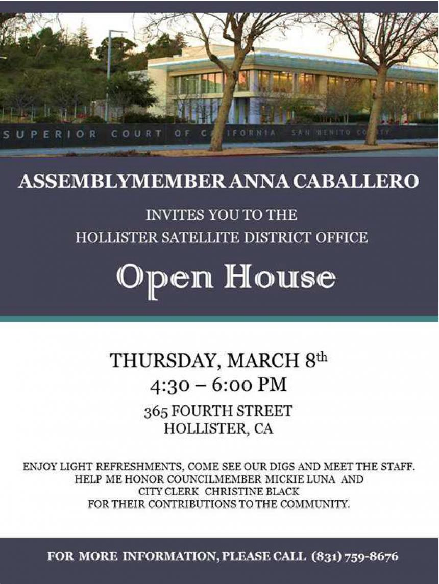 Hollister Open House - March 8th
