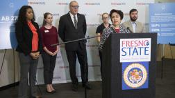 Assemblymember Caballero speaks at the Emergency Student Housing Loan Program to Tackle Student Homelessness Press Conference