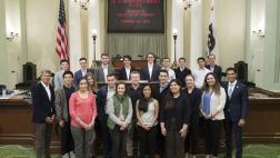 Assemblymember Rivas with Standford's Public Policy Students on the Assembly Floor
