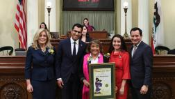 Assemblymember Robert Rivas Honors Woman of the Year Evelia Morales Rosso