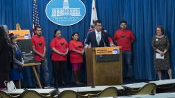 Assemblymember Robert Rivas Speaks at Podium